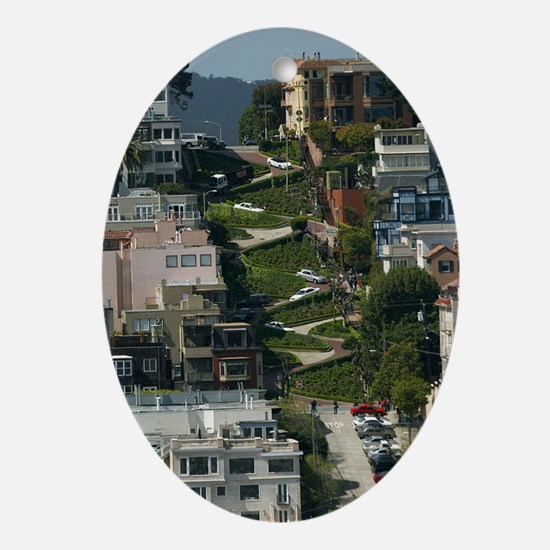 streets of san Francisco Oval Ornament
