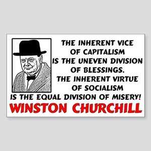 """Churchill: Socialism Is Misery!"" Sticke"