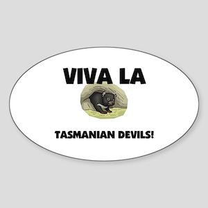 Viva La Tasmanian Devils Oval Sticker