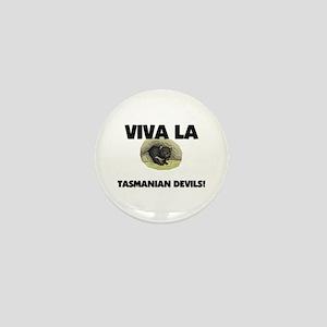 Viva La Tasmanian Devils Mini Button