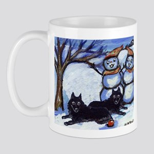 Schipperke Winter Season Dog  Mug