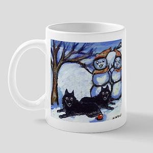 Schipperke Winter Season Dog  Mug