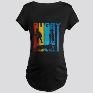 Vintage Rugby Graphic T Shirt Maternity T-Shirt