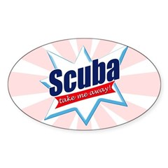 https://i3.cpcache.com/product/365466602/scuba_take_me_away_oval_decal.jpg?side=Front&color=White&height=240&width=240
