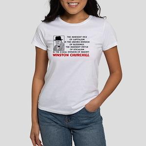 Churchill: Socialism Is Misery! Women's Tee