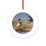 Mallard Flight Ornament (Round)