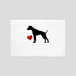 Boxer Dog 4' x 6' Rug