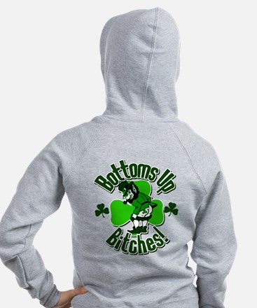 Bottoms Up Bitches! Zip Hoodie