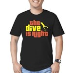 The Dive Is Right Men's Fitted T-Shirt (dark)