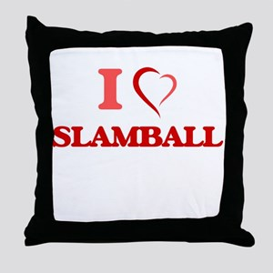I Love Slamball Throw Pillow