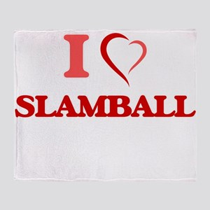 I Love Slamball Throw Blanket