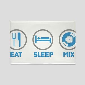 Eat Sleep Mix Again Rectangle Magnet