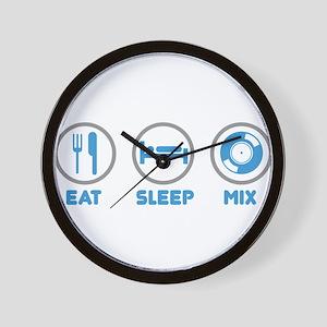 Eat Sleep Mix Again Wall Clock