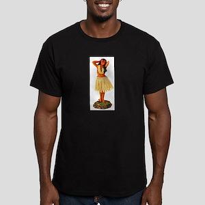 Retro Hula Girl Men's Fitted T-Shirt (dark)