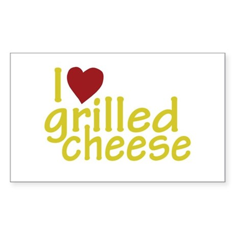 I Love Grilled Cheese Rectangle Sticker