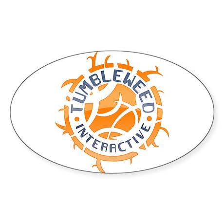 Tumbleweed Interactive Logo Oval Sticker