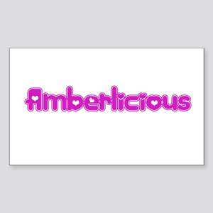 Amberlicious Rectangle Sticker