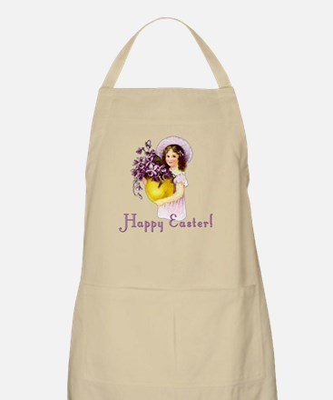 Happy Easter with Violets BBQ Apron