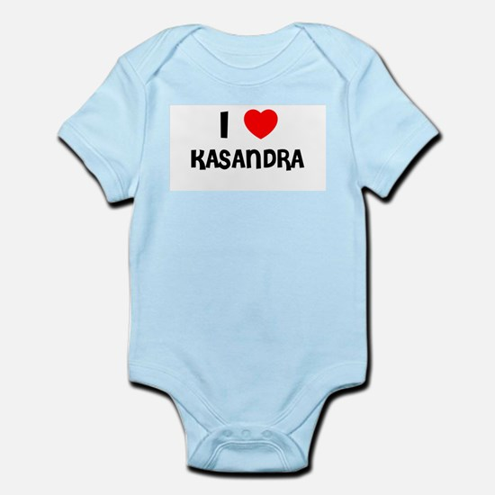I LOVE KASANDRA Infant Creeper