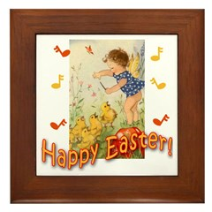 Musical Happy Easter Framed Tile