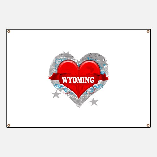 My Heart Wyoming Vector Style Banner