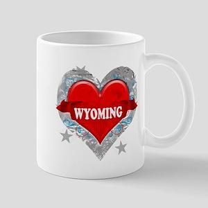 My Heart Wyoming Vector Style Mug