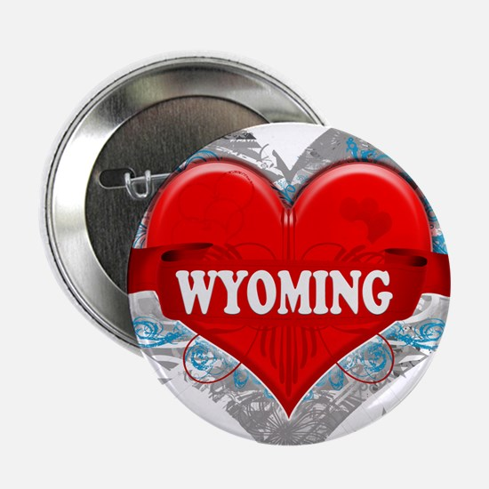 "My Heart Wyoming Vector Style 2.25"" Button"