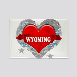 My Heart Wyoming Vector Style Rectangle Magnet