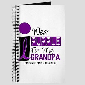 I Wear Purple For My Grandpa 9 PC Journal