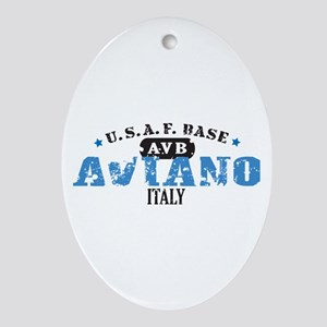 Aviano Air Force Base Ornament (Oval)
