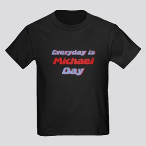 Everyday is Michael Day Kids Dark T-Shirt