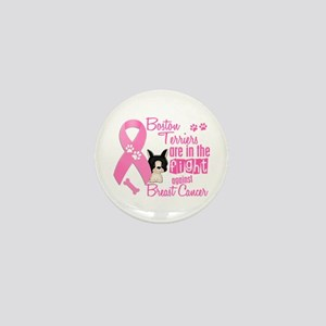 Boston Terriers Against Breast Cancer 2 Mini Butto