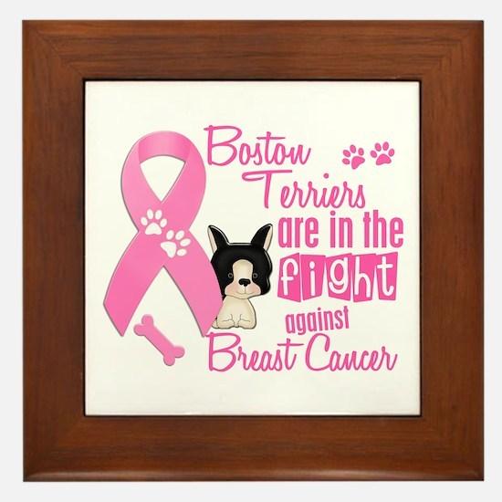 Boston Terriers Against Breast Cancer 2 Framed Til
