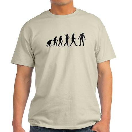 Funny Zombie Evolution Light T-Shirt