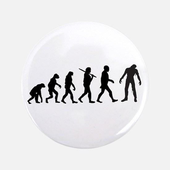 "Funny Zombie Evolution 3.5"" Button"