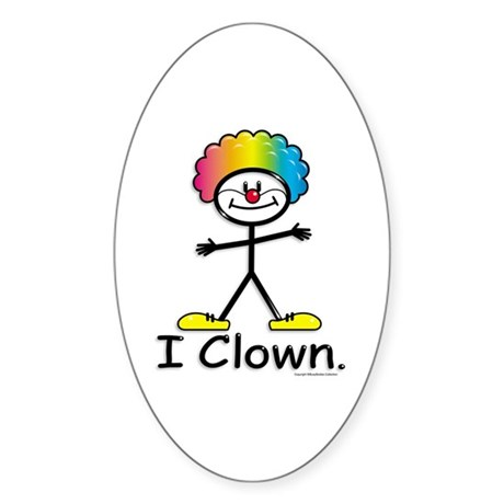 BusyBodies Clowning Oval Sticker