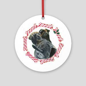 Border Terrier Christmas Ornament (Round)