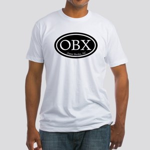 OBX Outer Banks, NC Oval Fitted T-Shirt