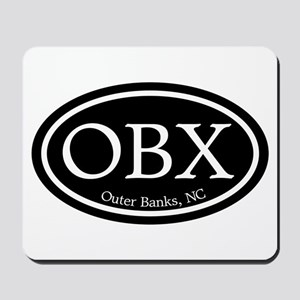 OBX Outer Banks, NC Oval Mousepad