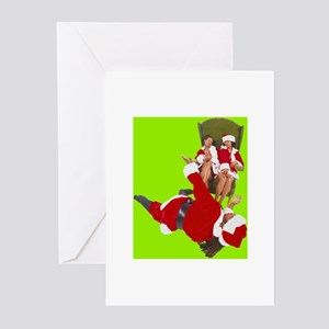Greeting Cards (Pk of 10)-THE SANTA CLAUSES