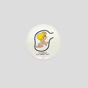 Blonde EGGBERT YO, World Mini Button