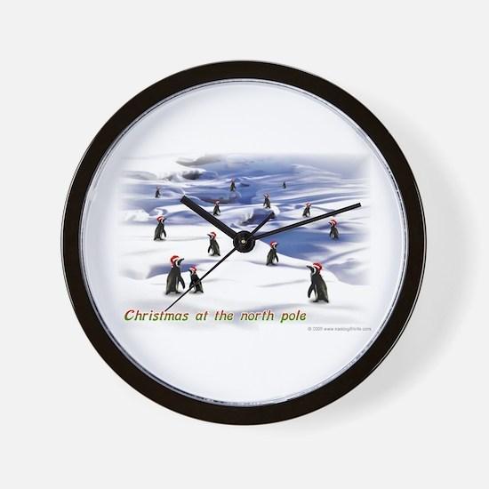 North Pole Christmas Wall Clock