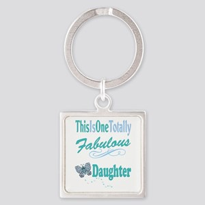 Fabulous Daughter Square Keychain
