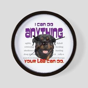 Do Anything (Rottweiler) Wall Clock
