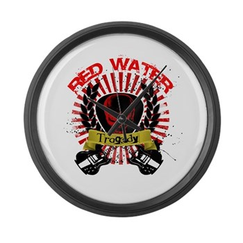Red Water Tragedy Large Wall Clock
