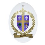 DIONNE Family Crest Oval Ornament