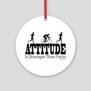 Attitude is Stronger Duathlon Ornament (Round)
