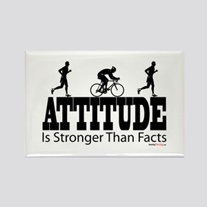 Attitude is Stronger Duathlon Rectangle Magnet