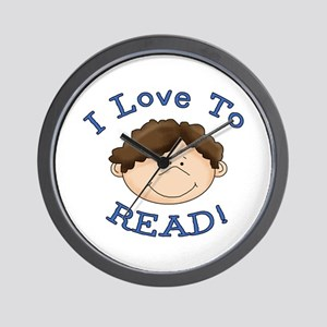 Boy Love to Read Wall Clock