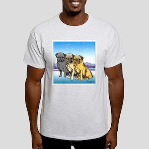 Three Pugs Ash Grey T-Shirt